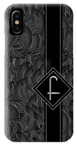 Deco Jazz Swing Monogram ...letter F IPhone Case
