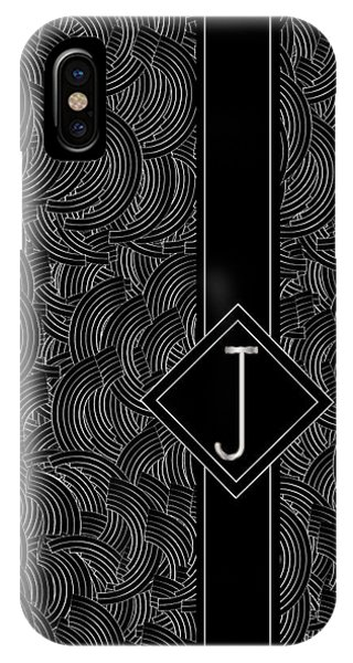 Deco Jazz Swing Monogram ...letter J IPhone Case