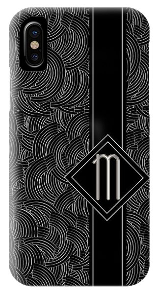 Deco Jazz Swing Monogram ...letter M IPhone Case