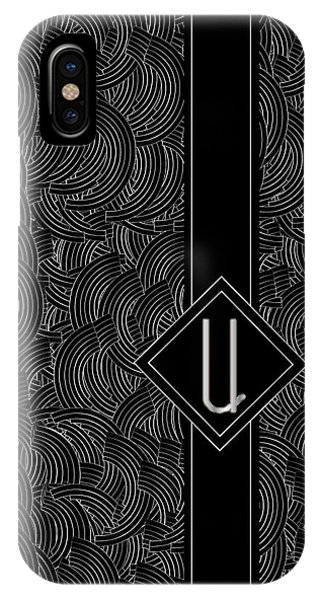 Deco Jazz Swing Monogram ...letter U IPhone Case