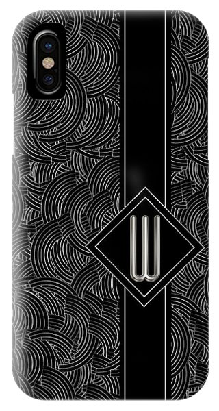 Deco Jazz Swing Monogram ...letter W IPhone Case