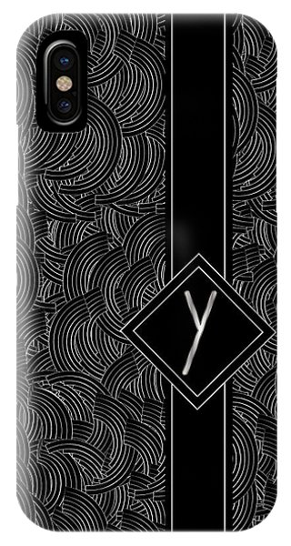 Deco Jazz Swing Monogram ...letter Y IPhone Case