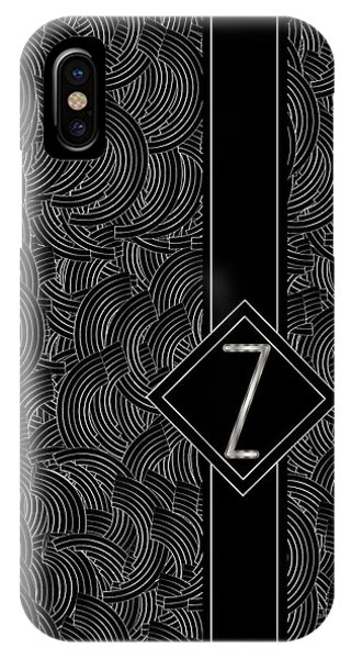 Deco Jazz Swing Monogram ...letter Z IPhone Case