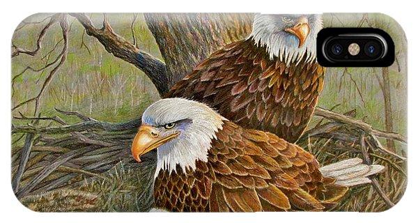 Decorah Eagle Family IPhone Case
