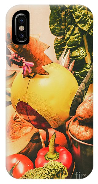 Garden Wall iPhone Case - Decorated Organic Vegetables by Jorgo Photography - Wall Art Gallery