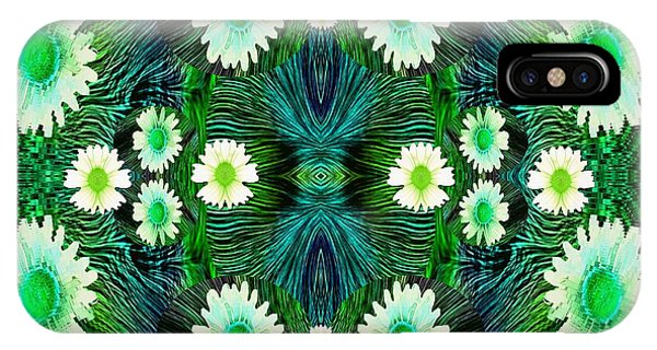 Sacred iPhone Case - Decorative Abstract Meadow by Pepita Selles