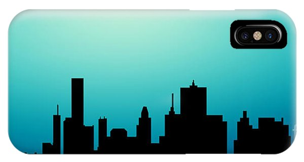 Decorative Abstract Skyline Houston R1115a IPhone Case