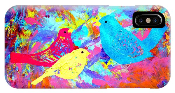 IPhone Case featuring the painting Decorative Birds D132016 by Mas Art Studio