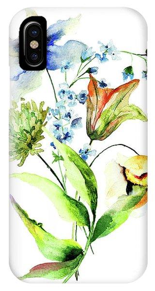 Decorative Flowers IPhone Case