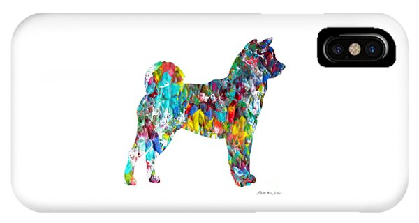 Decorative Husky Abstract O1015h IPhone Case