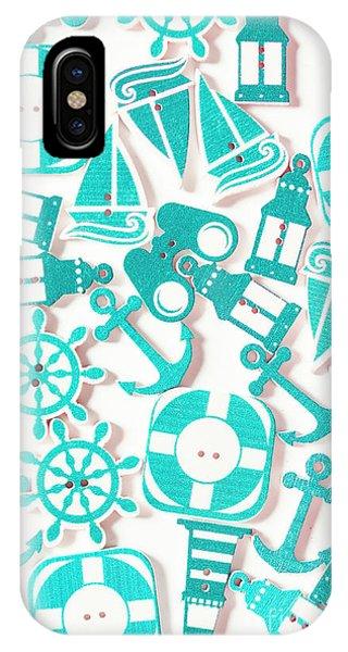 Aqua iPhone Case - Decorative Marine Scene by Jorgo Photography - Wall Art Gallery