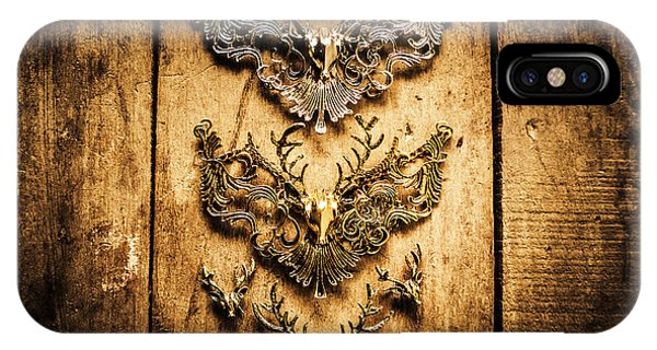 Reindeer iPhone Case - Decorative Moose Emblems by Jorgo Photography - Wall Art Gallery