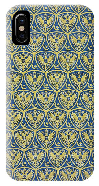 Decorative Pattern With The German Coat Of Arms IPhone Case
