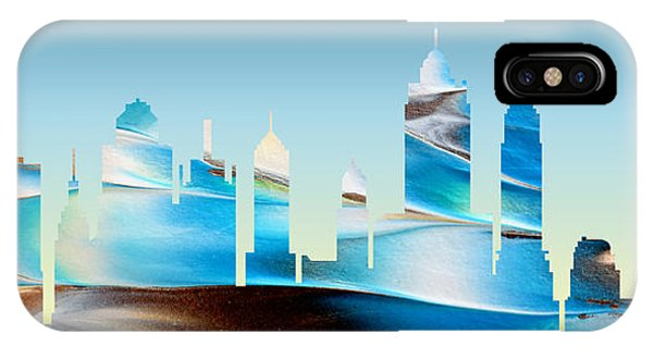 Decorative Skyline Abstract New York P1015b IPhone Case