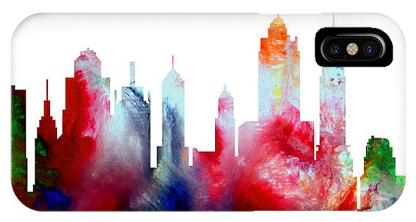 Decorative Skyline Abstract New York P1015c IPhone Case