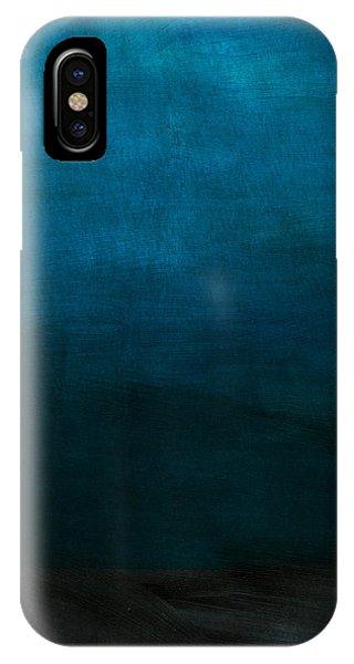 Dark Blue iPhone Case - Deep Blue Mood- Abstract Art By Linda Woods by Linda Woods