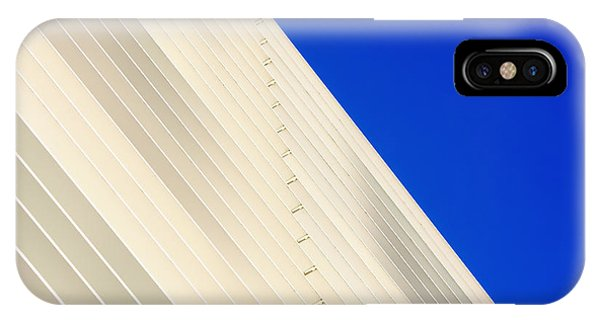 Deep Blue Sky And Office Building Wall IPhone Case