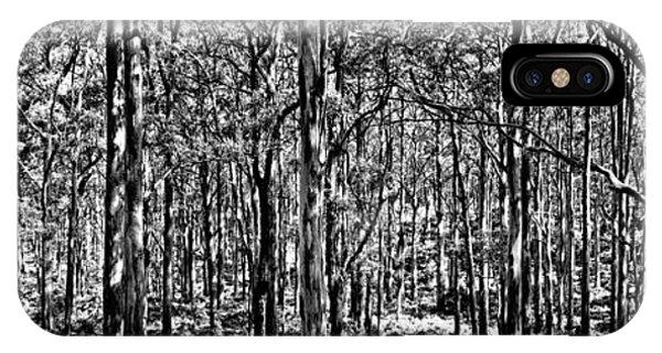 Greenery iPhone Case - Deep Forest Bw by Az Jackson