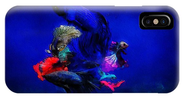 IPhone Case featuring the painting Deep Oceans by Mark Taylor