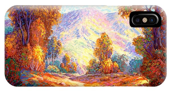 Walk iPhone Case - Radiant Peace, Colors Of Fall by Jane Small