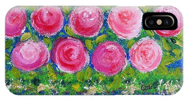 Deep Pink Flowers IPhone Case