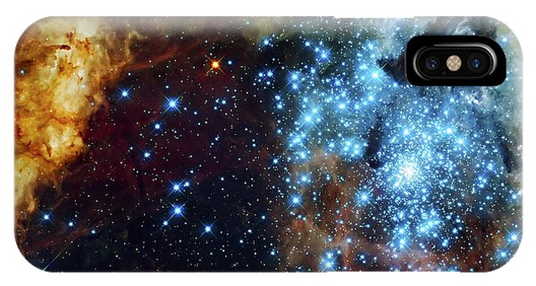 Space iPhone Case - Deep Space Fire And Ice 2 by Jennifer Rondinelli Reilly - Fine Art Photography