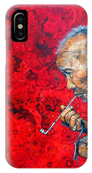 IPhone Case featuring the painting Deep Thoughts by Tom Roderick