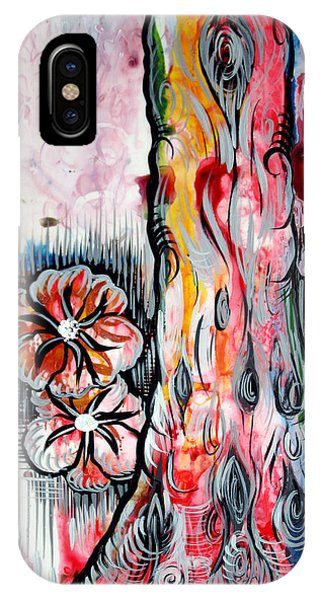 Airbrush iPhone Case - Deeply Rooted V by Shadia Derbyshire