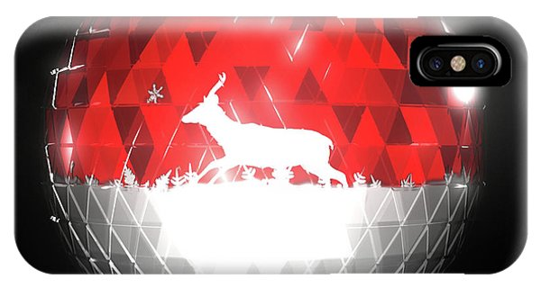 Deer Bauble - Frame 10 IPhone Case