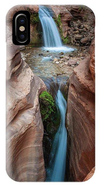Deer Creek Double Waterfall IPhone Case