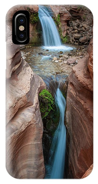 Deer Creek Double Waterfall IPhone Case
