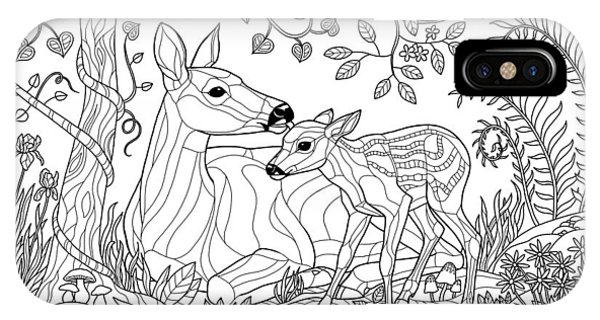 Coloring Page Iphone Cases Fine Art America