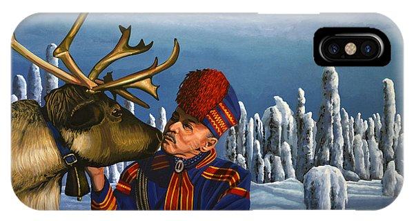 Reindeer iPhone Case - Deer Friends Of Finland by Paul Meijering