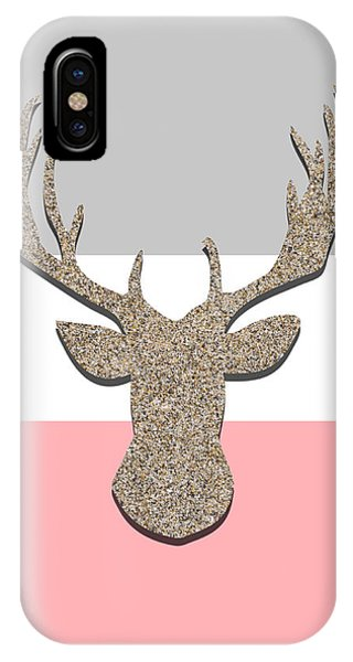 Holiday iPhone Case - Deer Head Silhouette by Pati Photography