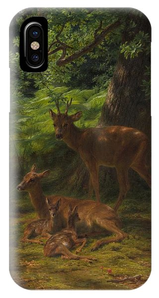 Stag iPhone Case - Deer In Repose by Rosa Bonheur