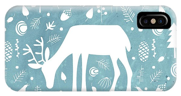 Fall iPhone Case - Deer In The Woods by Nic Squirrell