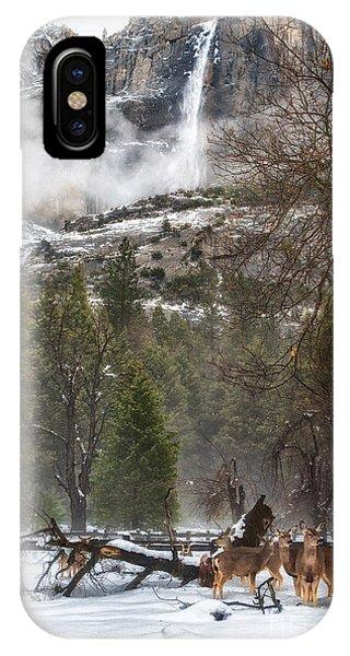 Deer Of Winter IPhone Case