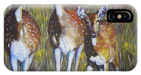 Deer On Guard IPhone Case