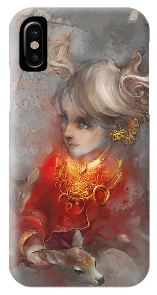 Myth iPhone Case - Deer Princess by Te Hu
