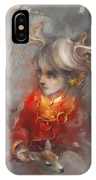 Deer Princess IPhone Case