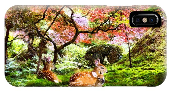 Deer Relaxing In A Meadow IPhone Case