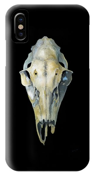 Deer Skull Aura IPhone Case