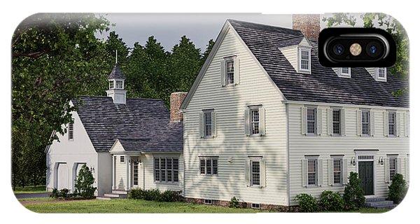Deerfield Colonial House IPhone Case