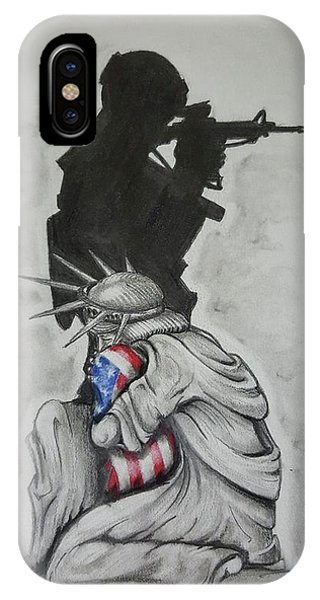 Military iPhone Case - Defending Liberty by Howard King