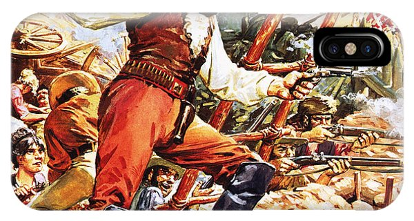 The Alamo iPhone Case - Defending The Alamo by CL Doughty