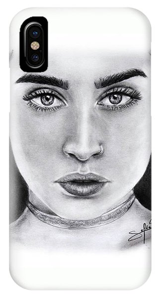 iPhone Case - Lauren Jauregui Drawing By Sofia Furniel  by Jul V