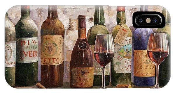 Wine Glass iPhone Case - Del Buon Vino by Guido Borelli