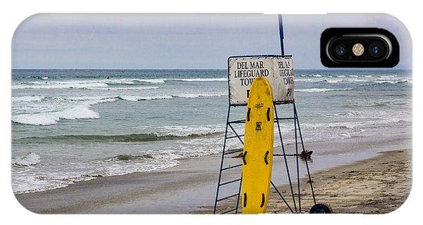 Del Mar Lifeguard Tower IPhone Case