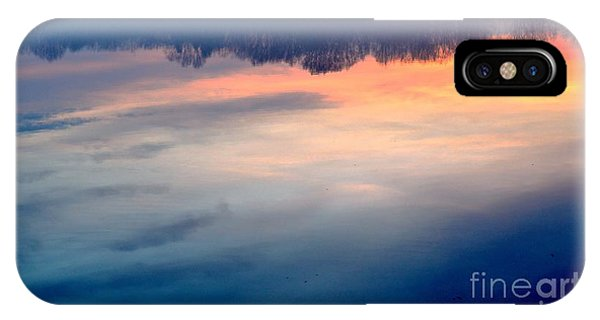Delaware River Abstract Reflections Foggy Sunrise Nature Art IPhone Case