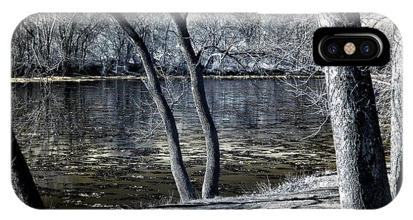 Delaware River Infrared Phone Case by John Rizzuto
